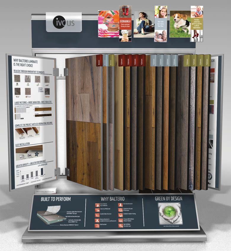 Displays all tile inc for Laminate flooring displays