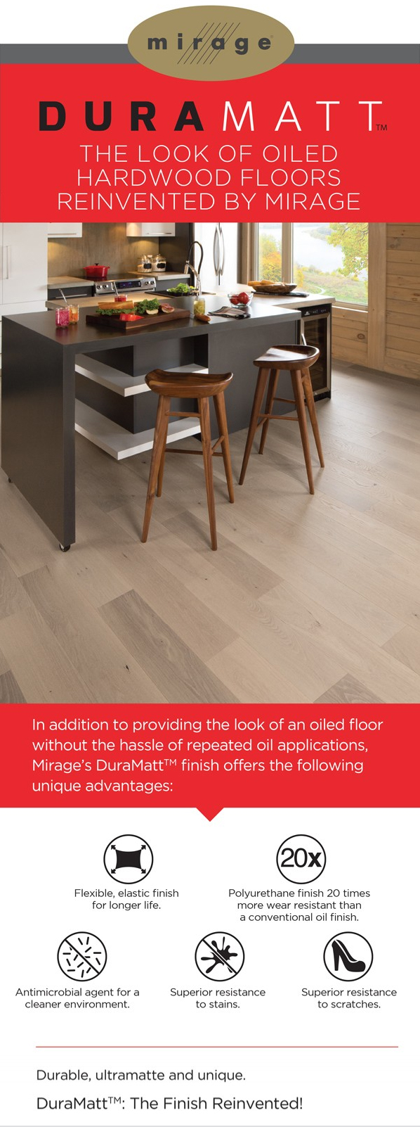 The look of oiled hardwood floors reinvented by Mirage - All Tile Inc.